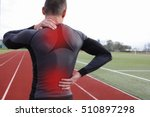 athletic fitness man with neck...   Shutterstock . vector #510897298