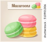 detailed icon. macaroons.... | Shutterstock . vector #510901306