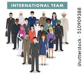 group of business men and women ... | Shutterstock .eps vector #510909388