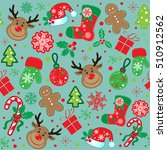 marry christmas pattern | Shutterstock .eps vector #510912562