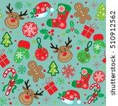 marry christmas pattern | Shutterstock .eps vector #510912562