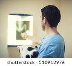 vet examing cat. | Shutterstock . vector #510912976