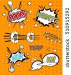 comic sound effects in pop art... | Shutterstock .eps vector #510915292