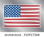 american flags. usa. banner... | Shutterstock .eps vector #510917368