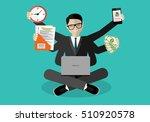 businessman with multitasking... | Shutterstock .eps vector #510920578