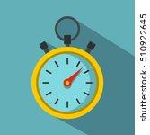 stopwatch icon. flat...   Shutterstock .eps vector #510922645