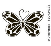 Night Butterfly Icon. Simple...