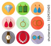 set of simple jewelry icons... | Shutterstock .eps vector #510925405