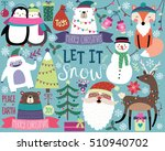 cute christmas vector... | Shutterstock .eps vector #510940702