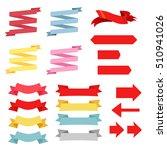 vector set design four... | Shutterstock .eps vector #510941026