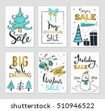 set of creative sale holiday... | Shutterstock .eps vector #510946522
