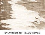 creased crumpled paper texture... | Shutterstock . vector #510948988