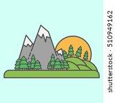 vector icon outdoor valley sun... | Shutterstock .eps vector #510949162