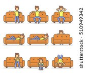 man lying  relax  lazy and... | Shutterstock .eps vector #510949342