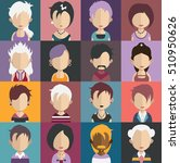 set of people icons in flat... | Shutterstock .eps vector #510950626
