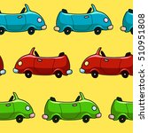 seamless colorful car pattern.... | Shutterstock .eps vector #510951808