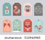 christmas tags set  hand drawn... | Shutterstock .eps vector #510960985