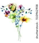 watercolor illustration of...   Shutterstock . vector #510962908