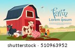 farm breeding animals farmland... | Shutterstock .eps vector #510963952