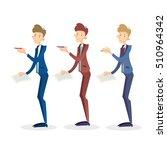 business man manager set hold...   Shutterstock .eps vector #510964342
