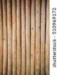 Bamboo Wood Pole Fence Wall...