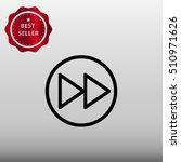 rewind button vector icon...