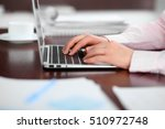 close up of business woman... | Shutterstock . vector #510972748