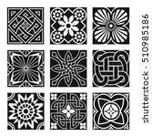 vintage ornamental patterns in... | Shutterstock .eps vector #510985186