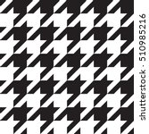 seamless houndstooth pattern.... | Shutterstock .eps vector #510985216