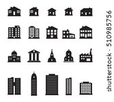 buildings icon set | Shutterstock .eps vector #510985756