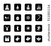 christmas and new year icon set ... | Shutterstock .eps vector #511001116