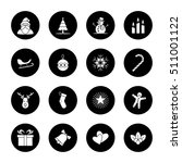 christmas and new year icon set ... | Shutterstock .eps vector #511001122