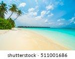 beautiful tropical maldives... | Shutterstock . vector #511001686