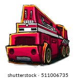 illustration of a toy truck | Shutterstock . vector #511006735