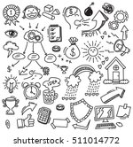 business themed doodle | Shutterstock .eps vector #511014772
