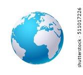 globe on white  | Shutterstock .eps vector #511017226