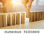 man hand pick one from many... | Shutterstock . vector #511018642