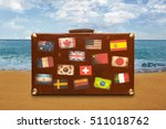Vintage Travel Suitcase With...