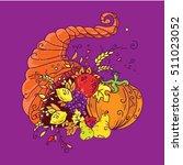 cornucopia doodle symbol.... | Shutterstock .eps vector #511023052