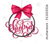vector christmas poster with... | Shutterstock .eps vector #511023526