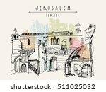 jerusalem  israel. handmade... | Shutterstock .eps vector #511025032