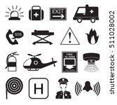 emergency icons collection | Shutterstock .eps vector #511028002