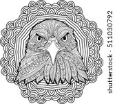 stern eagle on a background of... | Shutterstock .eps vector #511030792