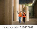 paper mill factory workers | Shutterstock . vector #511032442