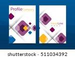 business a4 annual report... | Shutterstock . vector #511034392