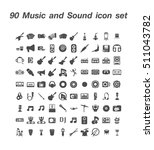 90 music and sound icon set | Shutterstock .eps vector #511043782