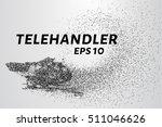 telehandler of the particles....   Shutterstock .eps vector #511046626
