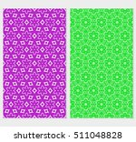 set of 2 floral seamless...   Shutterstock .eps vector #511048828