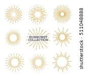 Set Of Sunburst Design Elements ...