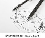 drawing detail and drawing tools | Shutterstock . vector #51105175